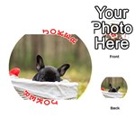 French Bulldog Peeking Puppy Playing Cards 54 (Round)  Front - Joker2
