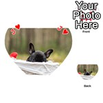 French Bulldog Peeking Puppy Playing Cards 54 (Heart)  Front - HeartJ