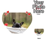 French Bulldog Peeking Puppy Playing Cards 54 (Heart)  Front - HeartK