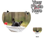 French Bulldog Peeking Puppy Playing Cards 54 (Heart)  Front - ClubJ