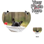French Bulldog Peeking Puppy Playing Cards 54 (Heart)  Front - Spade10