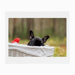 French Bulldog Peeking Puppy Small Glasses Cloth (2-Side)
