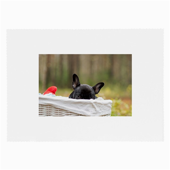 French Bulldog Peeking Puppy Large Glasses Cloth