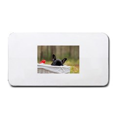 French Bulldog Peeking Puppy Medium Bar Mats
