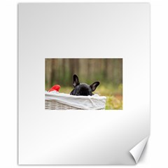 French Bulldog Peeking Puppy Canvas 11  x 14