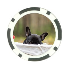 French Bulldog Peeking Puppy Poker Chip Card Guards