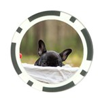French Bulldog Peeking Puppy Poker Chip Card Guards Front