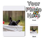 French Bulldog Peeking Puppy Multi-purpose Cards (Rectangle)  Back 12