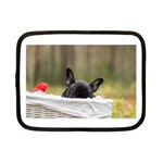 French Bulldog Peeking Puppy Netbook Case (Small)  Front