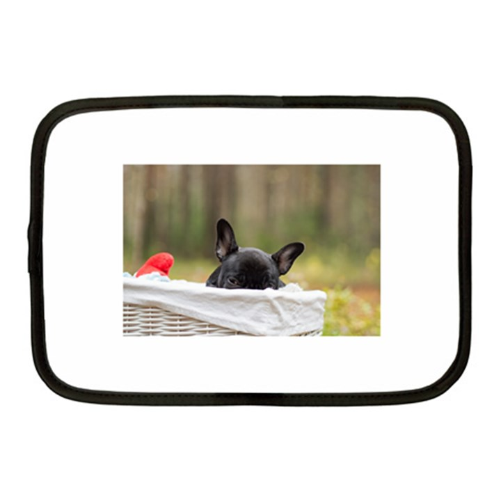 French Bulldog Peeking Puppy Netbook Case (Medium)
