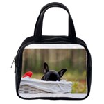 French Bulldog Peeking Puppy Classic Handbags (One Side) Front