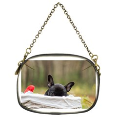 French Bulldog Peeking Puppy Chain Purses (One Side)