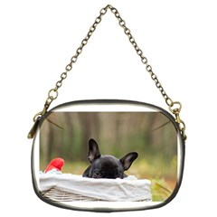 French Bulldog Peeking Puppy Chain Purses (Two Sides)