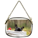 French Bulldog Peeking Puppy Chain Purses (Two Sides)  Front
