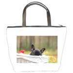 French Bulldog Peeking Puppy Bucket Bags Back