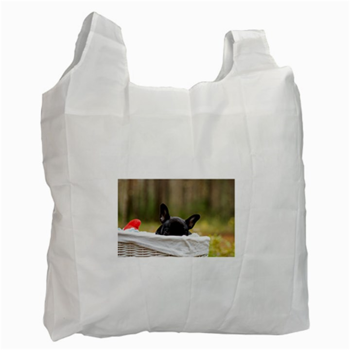 French Bulldog Peeking Puppy Recycle Bag (One Side)