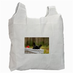 French Bulldog Peeking Puppy Recycle Bag (Two Side)