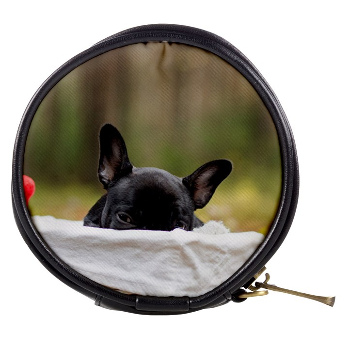 French Bulldog Peeking Puppy Mini Makeup Bags