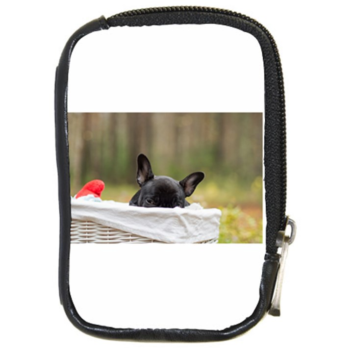 French Bulldog Peeking Puppy Compact Camera Cases