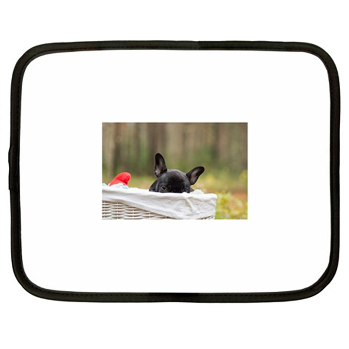 French Bulldog Peeking Puppy Netbook Case (XL)