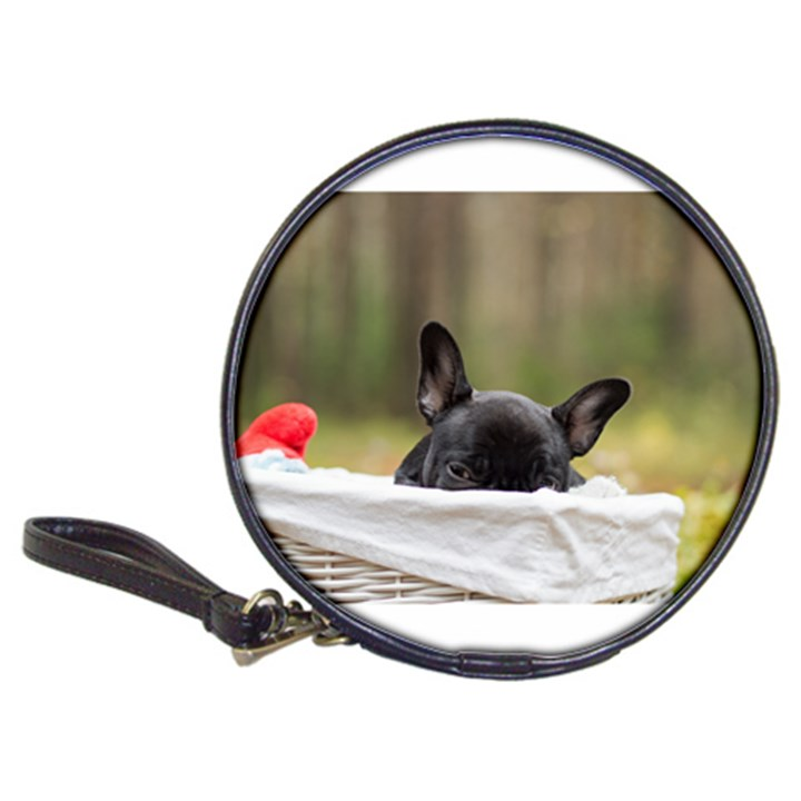 French Bulldog Peeking Puppy Classic 20-CD Wallets