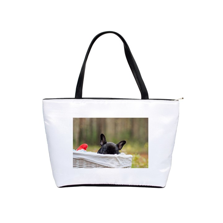 French Bulldog Peeking Puppy Shoulder Handbags