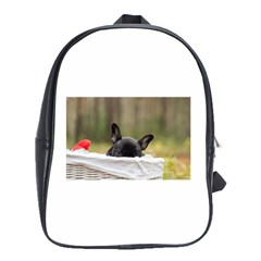 French Bulldog Peeking Puppy School Bags(Large)