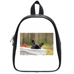 French Bulldog Peeking Puppy School Bags (Small)  Front