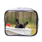 French Bulldog Peeking Puppy Mini Toiletries Bags Front