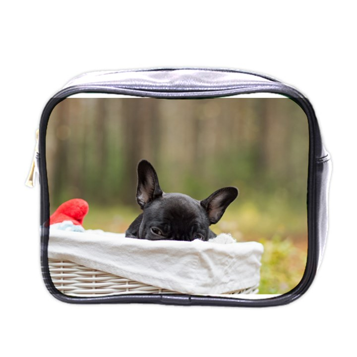 French Bulldog Peeking Puppy Mini Toiletries Bags