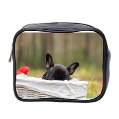 French Bulldog Peeking Puppy Mini Toiletries Bag 2-Side