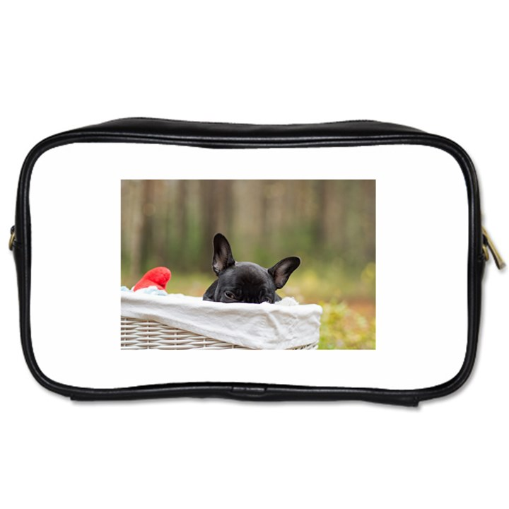 French Bulldog Peeking Puppy Toiletries Bags