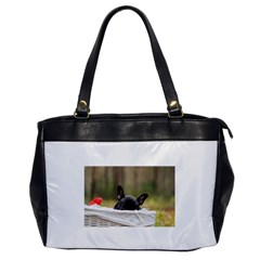 French Bulldog Peeking Puppy Office Handbags