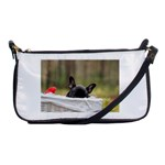 French Bulldog Peeking Puppy Shoulder Clutch Bags Front