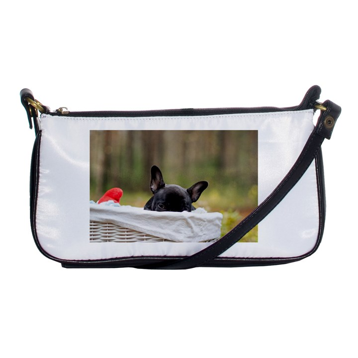 French Bulldog Peeking Puppy Shoulder Clutch Bags