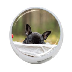 French Bulldog Peeking Puppy 4-Port USB Hub (Two Sides)