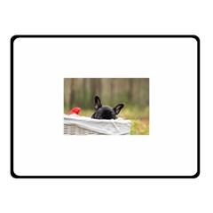 French Bulldog Peeking Puppy Fleece Blanket (Small)