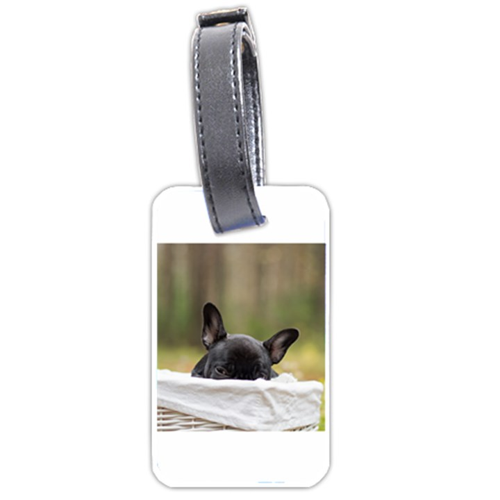 French Bulldog Peeking Puppy Luggage Tags (Two Sides)