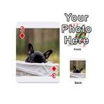 French Bulldog Peeking Puppy Playing Cards 54 (Mini)  Front - Diamond3