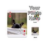 French Bulldog Peeking Puppy Playing Cards 54 (Mini)  Front - Diamond7