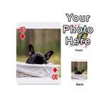 French Bulldog Peeking Puppy Playing Cards 54 (Mini)  Front - Diamond10