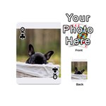 French Bulldog Peeking Puppy Playing Cards 54 (Mini)  Front - ClubQ