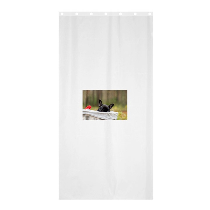 French Bulldog Peeking Puppy Shower Curtain 36  x 72  (Stall)