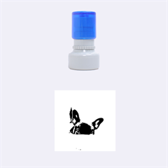 French Bulldog Peeking Puppy Rubber Round Stamps (Small)