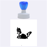 French Bulldog Peeking Puppy Rubber Round Stamps (Large) 1.875 x1.875  Stamp