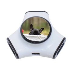 French Bulldog Peeking Puppy 3-Port USB Hub