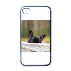 French Bulldog Peeking Puppy Apple Iphone 4 Case (black)
