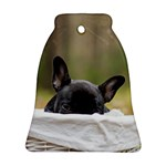 French Bulldog Peeking Puppy Bell Ornament (2 Sides) Front
