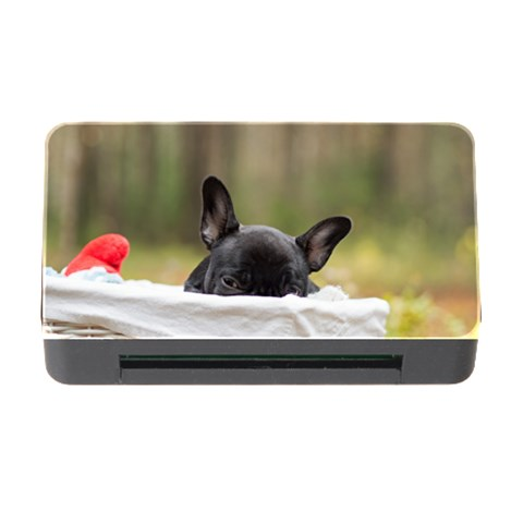 French Bulldog Peeking Puppy Memory Card Reader with CF