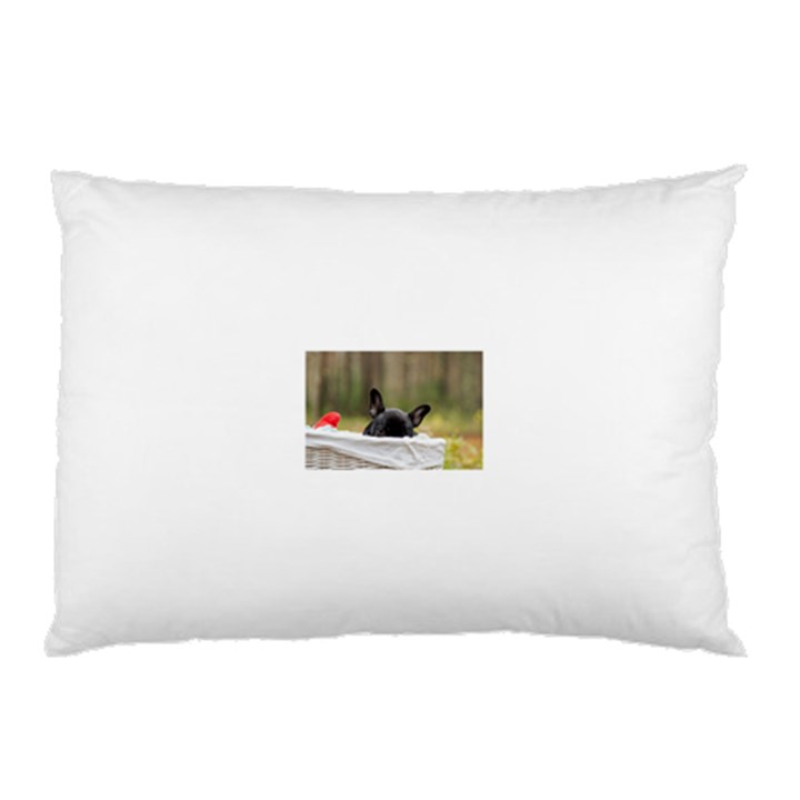 French Bulldog Peeking Puppy Pillow Case (Two Sides)